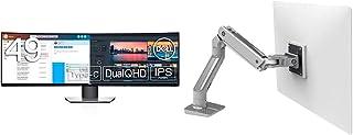 Dell 曲面モニター 49インチ U4919DW(3年間無輝点交換付/広視野角/DualQHD/IPS非光沢/ブルーライト軽減/フリッカーフリー/USB Type-C,DP,HDMIx2/高さ調整) & エルゴトロン HX デスクモニターアー...