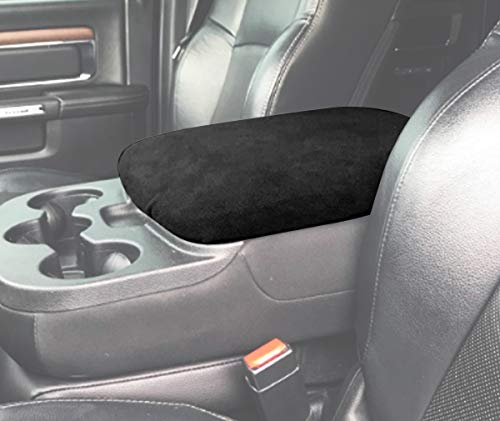 MOEBULB Center Console Armrest Soft Pad Protector Cover Compatible for 1993-2018 Dodge Ram 1500 2500 3500 4500 5500 Pickup Trucks