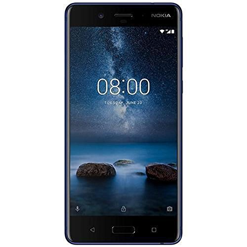 Nokia 8 Hybrid Singola SIM 4G 128GB Blue - smartphones (13.5 cm (5.3'), 128 GB, 13 MP, Android, 7.1.1 Nougat, Blue) [Germania]
