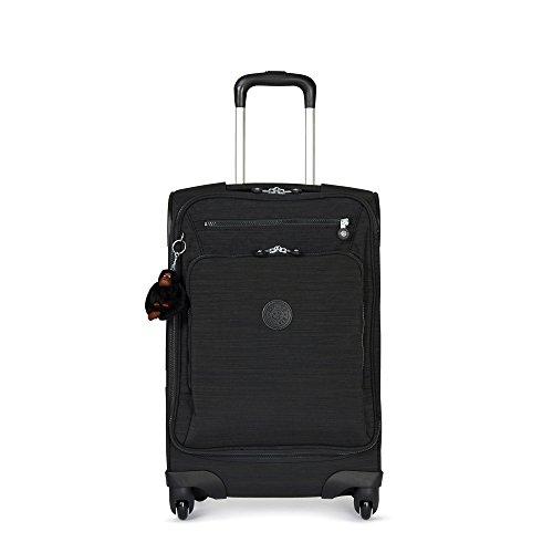 Kipling Youri Softisde Spinner Wheel Luggage, Dazz Black, Carry-On 22-Inch