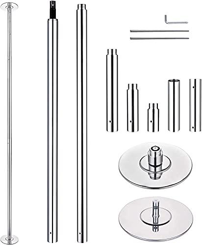 GAOXQ Poste de Danza rotativo y estático, Polo de extracción portátil de 45 mm de diámetro, Altura 226.1-292.08 cm, Tubo de Baile de Ejercicio Ajustable, Ajustable, adecua