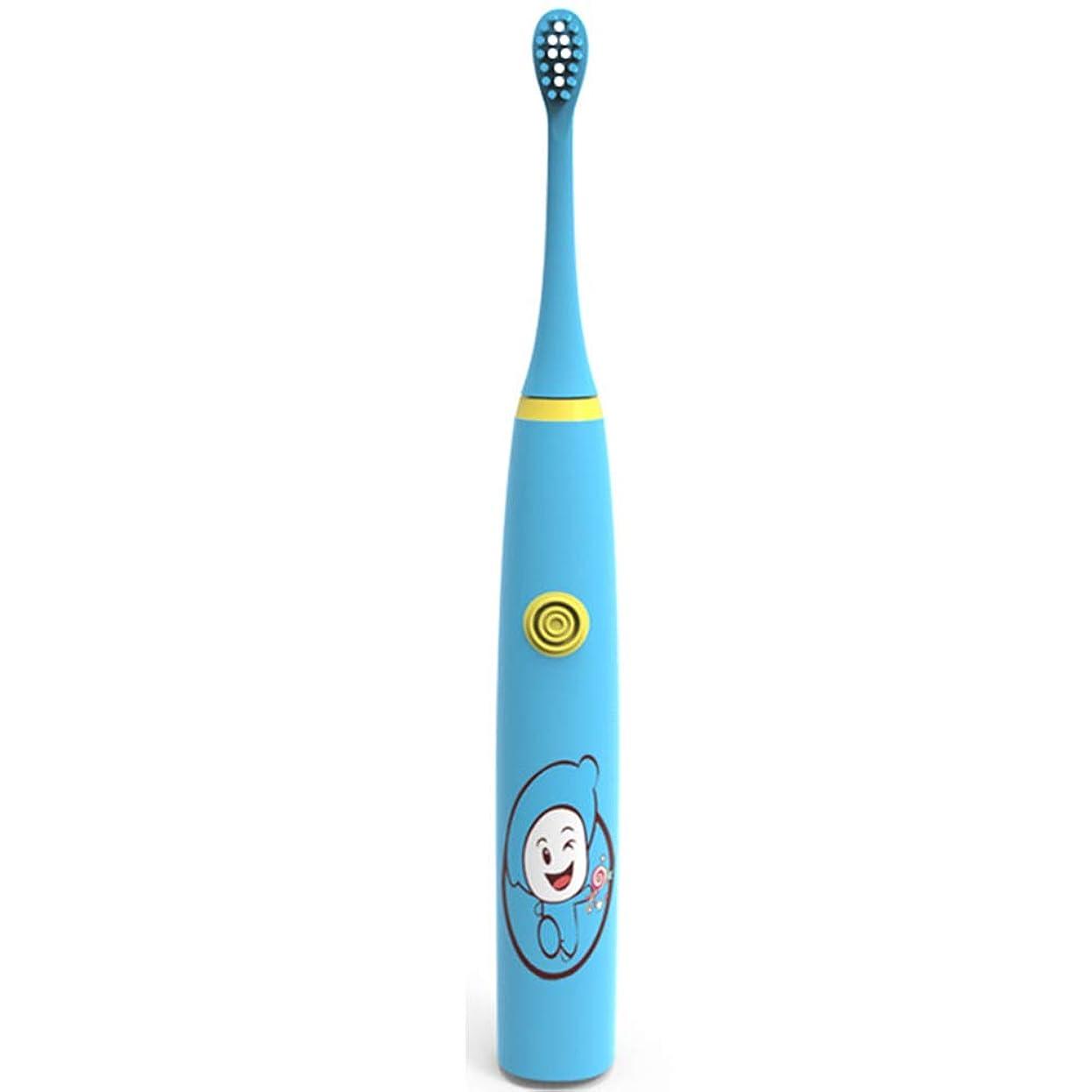 ベーコン複合ランドマーク子供のための超音波電動歯ブラシ、防水IPX7、デュポンの柔らかい毛、深いクリーニングの歯、ワイヤレス誘導充電