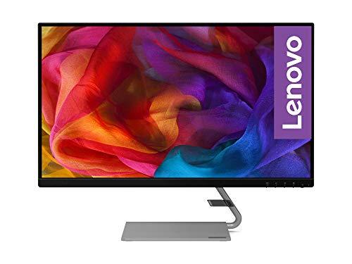 Lenovo Q27q-1L 68,58 cm (27 Zoll, 2560x1440, QHD, 75Hz, WideView, entspiegelt) Monitor (HDMI, DisplayPort, 4ms Reaktionszeit, AMD FreeSync) grau