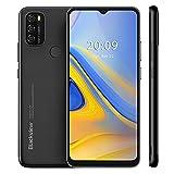 Blackview A70 2021 Smartphone ohne Vertrag, Android 11 Handy, 6,517 Zoll HD + Display, 3GB+32GB, 5380 mAh Akku, 13MP+5MP Kamera, Dual SIM Smartphone 4G, Face ID, GPS, Schwarz