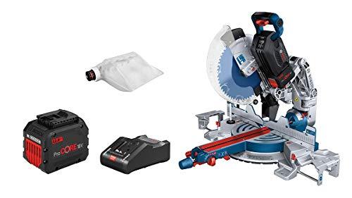 Bosch Professional BITURBO GCM 18V-305 GDC Ingletadora telescópica a batería 18V, disco diametro 305 mm, láser, 2 baterías x 12.0 Ah ProCORE18V, Connectivity, en caja