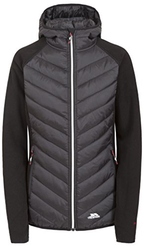 Trespass Boardwalk, Black, S, Warme Fleecejacke mit Kapuze 300g/m² für Damen, Small, Schwarz