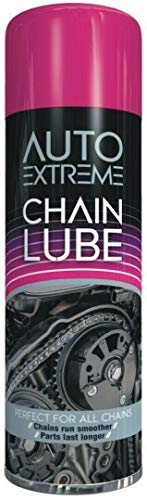 HitlineUK Bike Chain Cleaner, 300ml Chain Lube, Bike Chain Oil, Lubricate Oil Fluids Spray Cans for Motorbikes, Bikes, Bicycles, Squirt Chain Lube, Drivetrain Cleaner Degreaser by Autoextreme