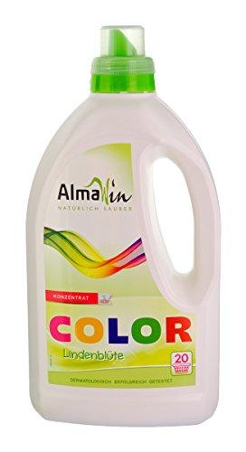 Ökologisches COLOR-Waschmittel flüssig - Öko Konzentrat - 20 Waschladungen (AlmaWin) 1,5 Liter