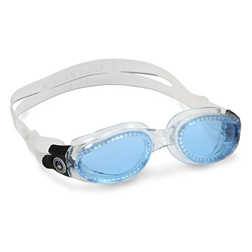 Aqua Sphere Kaiman Schwimmbrille, transparent/blaues Glas, Einheitsgröße