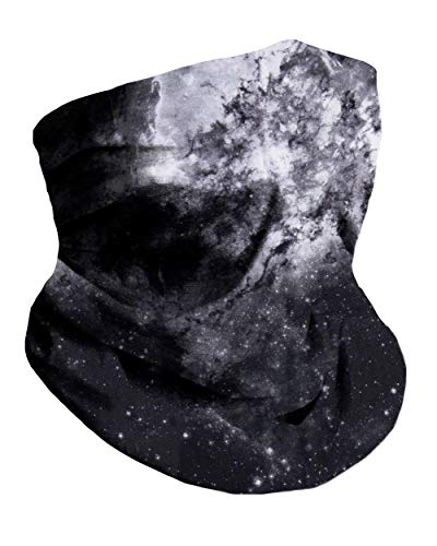 Space Minimalist Breathable Neck Gaiter Half Face Cover Cool Skiing Mask Bandana Festival Rave Balaclava Scarf INTO THE AM