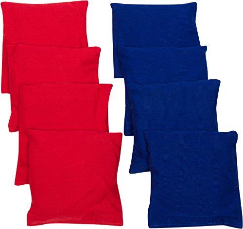 Simply Sports Marca innovaciones Starter Set Cornhole Bolsas de Bean (8Unidades), Rojo/Azul