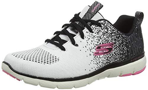 Skechers Flex Appeal 3.0, Zapatillas Mujer, White, 38 EU