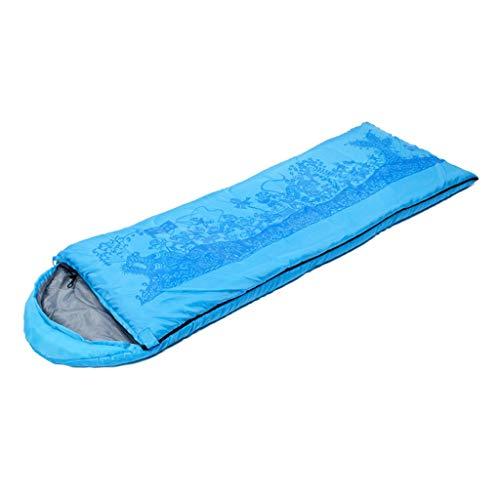 Rêve chinois Enveloppe Sac de Couchage Léger et Confortable Tissu Etanche Sac de Couchage en Duvet Chaud et étanche Idéal pour Le Camping Randonnée Bleu Orange Vert ( Color : Blue , Size : 1000g )