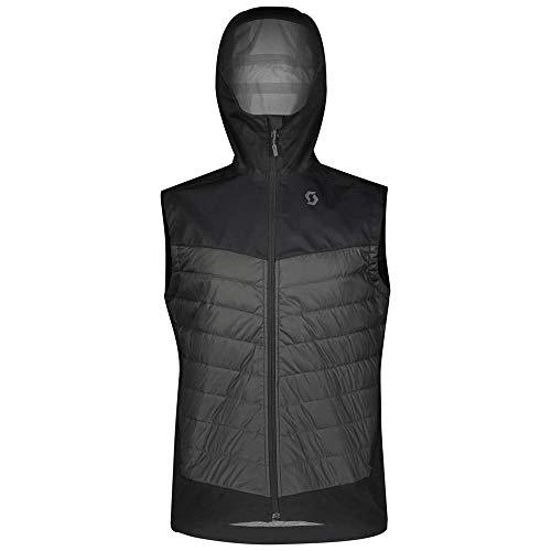Scott M Explorair Ascent Vest Colorblock-Grau, Herren Primaloft Weste, Größe M - Farbe Dark Melange - Black
