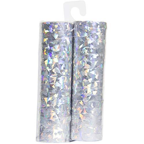 Folat-Serpentine olografiche argento 4m-2 pezzi, 65815