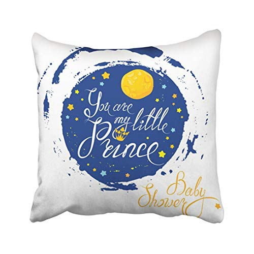 N\A Funda de Almohada Decorativa Luna y Estrellas en Texto caligráfico...