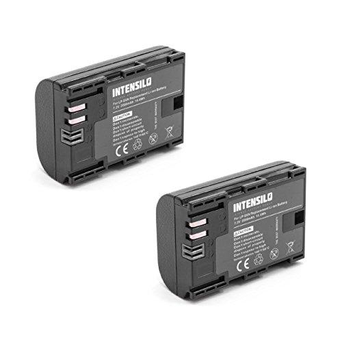 INTENSILO 2X Akku passend für Canon EOS R6, Ra Kamera Digicam DSLR (2000mAh, 7,2V, Li-Ion)