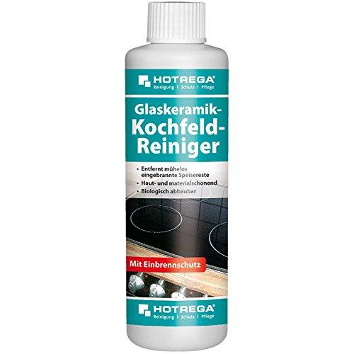 HOTREGA Glaskeramik Kochfeld Reiniger Herdplatte einfach reinigen Herd Reiniger Herdplattenreiniger 250ml