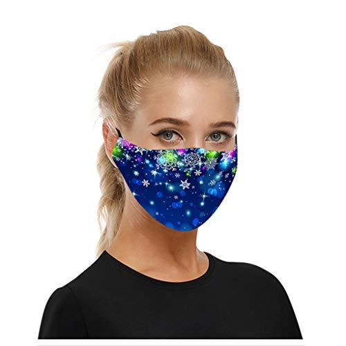 SHUANGA Weihnachten Bedrucktes Multifunktionstuch mit ausgefallenem Design - Hochwertige Sturmhaube als Wärm- und Schutztuch - Halstuch, Face Cover, Gesichtsmaske - Verschiedene Muster face Cover