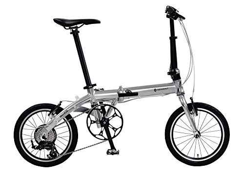 ルノー(RENAULT) 軽量・コンパクト 8.8kg 16インチ 7段変速搭載 折りたたみ自転車 PLATINUM LIGHT 8 メタリ...