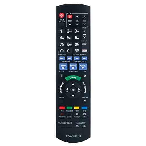 ALLIMITY N2QAYB000759 Fernbedienung Ersetzen für Panasonic Blu-ray Home Theater DMR-BST820 DMR-BST720 DMR-BST721 DMR-BST835 DMR-BCT730 DMR-BCT820 DMR-BCT720 DMR-BCT721