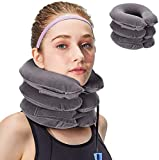 XClub Health Care Cervical Neck Traction Air Bag with 3 Layer Inflatable Pillow