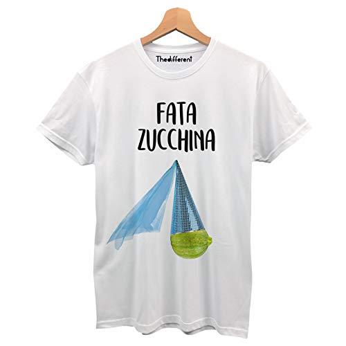 thedifferent T-Shirt Maglietta Uomo Divertente Fata Zucchina - Turchina Idea Regalo