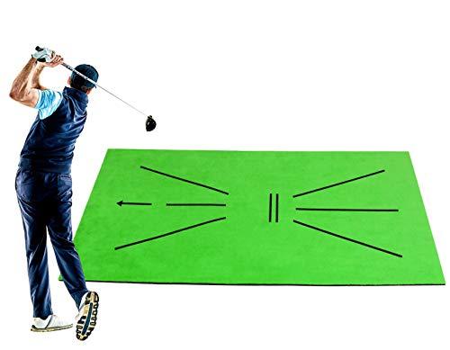 Idefair Golf Trainingsmatte Indoor Outdoor Swing Detection Batting Mini Übungsaufprallmatte Tragbare Golf Schlagmatte für Zuhause Büro