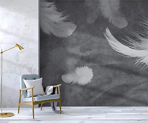 Papel pintado de plumas blancas mural dormitorio sala de estar hogar fondo pared 350×245cm