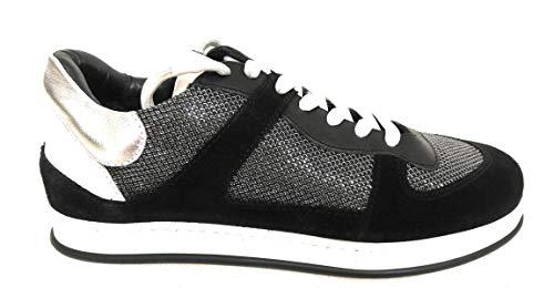 Twin Set Simona BARBIERI Sneaker Donna CAMOSCIO Nero CATKN (36 EU)