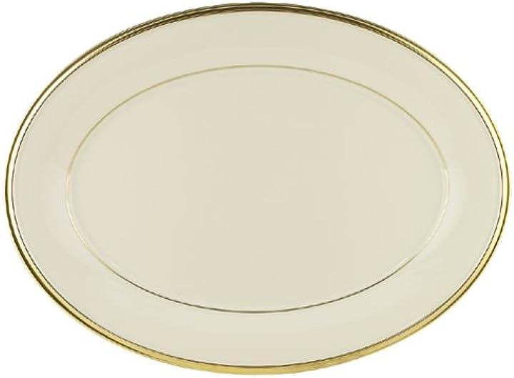 piatto ovale in porcellana fine 5 pezzi colore: oro 40 5 cm lenox eternal 140104450
