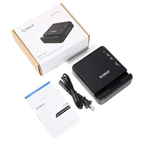 itchoate 4-Port Desktop USB Charger Black OPC-4US