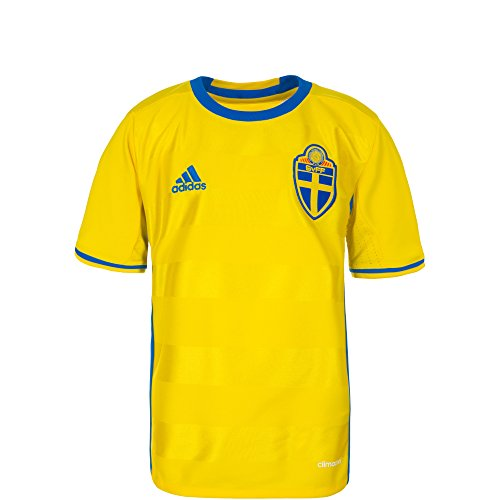 adidas Sweden 2015/2016 Youth Home Jersey