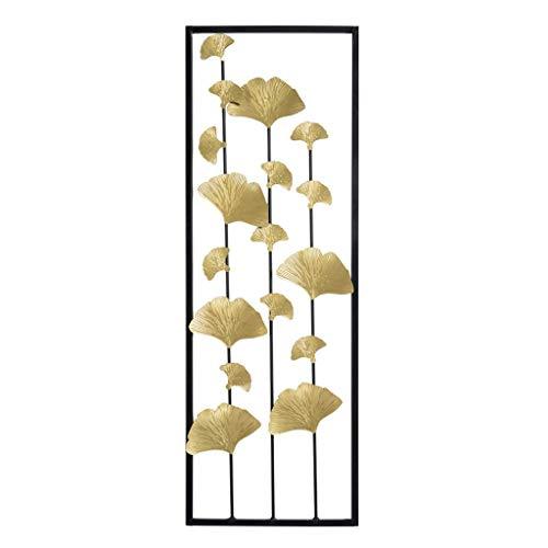 Desktop-Skulptur Pflanze Schlafzimmer Nachtwand Dekoration Wohnzimmer Stereo Schmiedeeisen Anhänger Ginkgo Blatt 31 * 90 * 1 cm (Size : B)