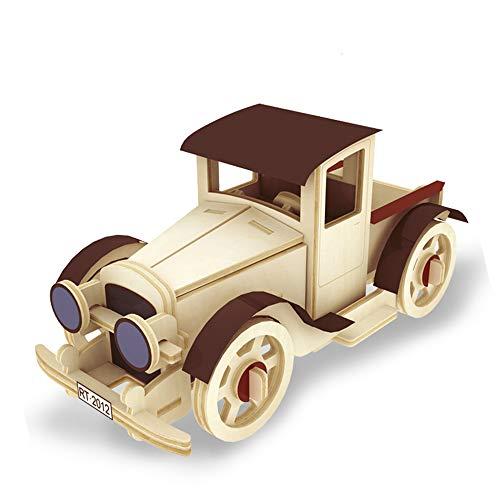 Georgie Porgy 3D Wooden Puzzle Sheep Model Woodcraft Construction Kit Giocattoli per Bambini (JP353 Automobile Classica 3)
