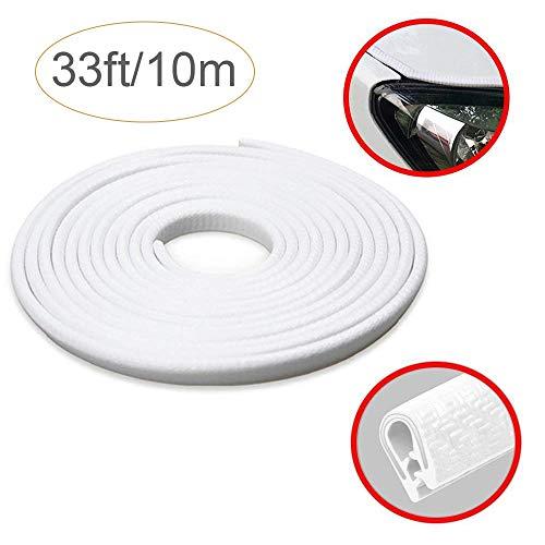 Auto-Kantenschutz 10m von STYLINGCAR | Autotür-Kantenschutz Weiß aus Kautschuk (10M, Weiß)