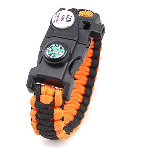 ZFstores Gevlochten armband Outdoor Survival noodkompas Armband Veiligheid Handriem
