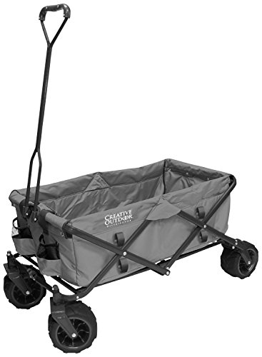 Creative Outdoor Distributor All-Terrain Folding Wagon, (Grey) -...
