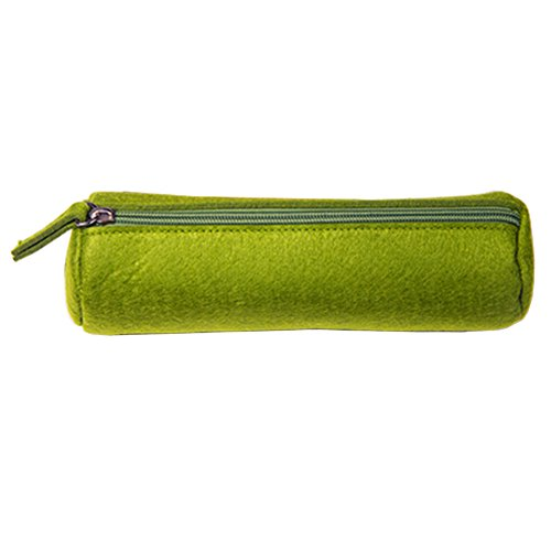 style simple Coins sac de rangement sac de maquillage Pen Case verte
