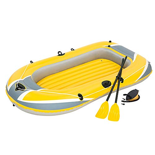 Best Deals! Sport Triple Thick Inflatable Boat Dinghy Kayaking Leather Boat Hovercraft Double Inflat...