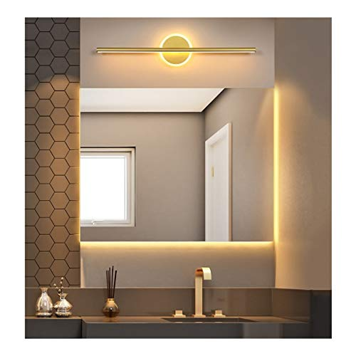 MJJ- Espejo de Baño con Iluminación LED Nordic simple LED Espejo Faro principal Dormitorio Armario Tocador de maquillaje lámpara de pared de la habitación del hotel Cuarto de baño WC iluminación de la
