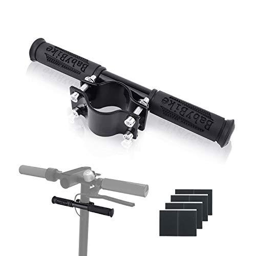 Ajustable Barra de Agarre para Niños, Manillar para Patinete Eléctrico,Aleación de Aluminio Extensor Soporte de Faro GPS para Xiaomi M365/pro (Negro)