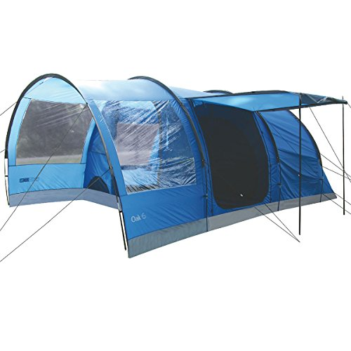 Highlander Outdoor Oak 6 Family Tunnel Tent, Blauw
