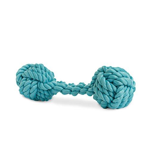 Rocco & Roxie Rope Bone Hundespielzeug, powder blue