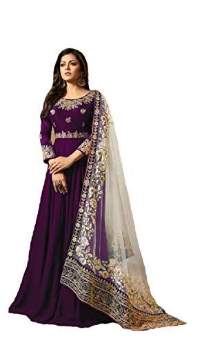 New Desiner Indian/Pakistani Ethnic wear Georgette Anarkali Gown LT (Purple, X-LARGE-44)