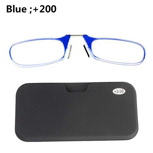Phrat Nariz Tarjeta Monedero Gafas de Lectura Gafas De Lectura Portátiles Unisex Anticuadas +1.0 1.5 2.0 2.5 3.0
