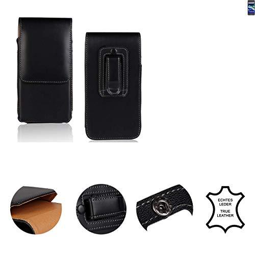 K-S-Trade® Holster Gürtel Tasche Für General Mobile GM 6 Handy Hülle Leder Schwarz, 1x