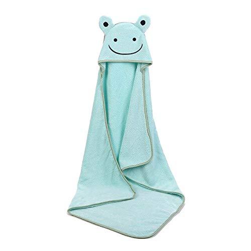 Xiaobing Poncho para bebé Toalla de baño Terciopelo 90 * 90cm Turbante para bebé Toalla de baño para bebé Funda para Manta -qingse-90x90cm