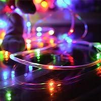 LWW 屋外ストリングライト、庭、パティオ、Windowsの、木、パーティー(マルチclours)、ホワイト防水ip65ストリングライト消灯100 Ledソーラークリスマスライトフレキシブル銅線の自動オン/,カラフル