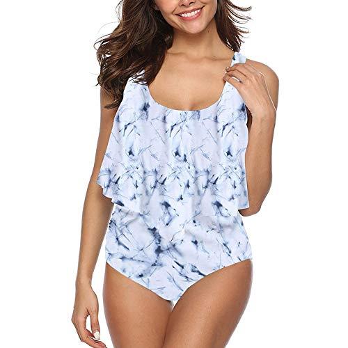 IFOUNDYOU Damen Badeanzug Bikini-Set Sexy Neckholder-Bikini Der Marke New Trend Beach Print Badeanzug Set Der Zweiteilige GroßFormatige